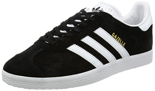 adidas Originals Gazelle, Zapatillas Unisex Adulto, Varios Colores (Core Black/White/Gold Metalic), 42 2/3 EU
