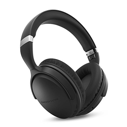 Auriculares Bluetooth con tecnología Active Noise Cancelling, Color Negro