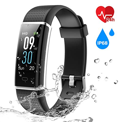 CHEREEKI IP68 Pulsera Inteligente Pantalla Color Fitness Tracker