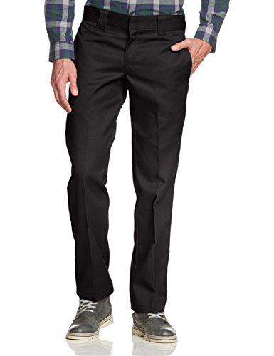 Dickies Slim Fit Straight - Pantalones para hombre, Negro (Black), W30/L30