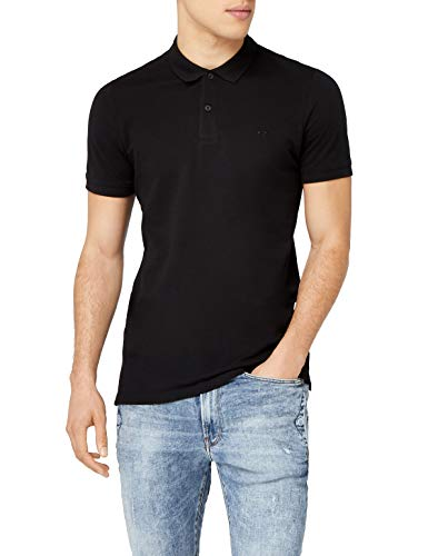 JACK & JONES Jjebasic Polo SS Noos, Hombre, Negro (Black Detail: Slim Fit), Large
