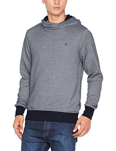 JACK & JONES Jorcrooner Sweat, Capucha para Hombre, Azul (Total Eclipse Fit:Reg-Hood), Large