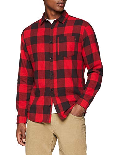 JACK & JONES Jordylan Shirt LS STS, Camisa para Hombre, (Fiery Red Fit: Slim), Small