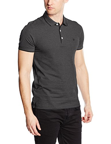 JACK & JONES PREMIUM Jprpaulos SS Noos, Polo para Hombre, Gris (Dark Grey Melange), Medium