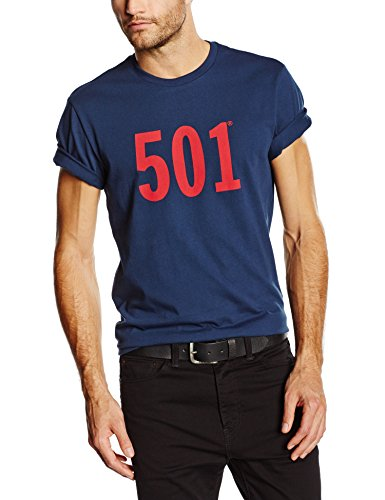 Levi's Graphic Set-In Neck, Camiseta para Hombre, Azul (Graphic Dress Blues 0100), Small
