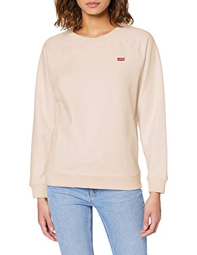 Levi's Relaxed Crew New Sudadera, Rosa (Peach Blush 0003), Small para Mujer