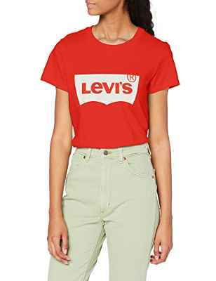 Levi's The Perfect tee Camiseta, Batwing Poppy Red, S para Mujer