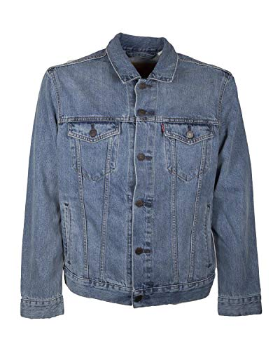 Levi's The Trucker Jacket, Chaqueta Vaquera para Hombre, Azul (Icy 0146) Large