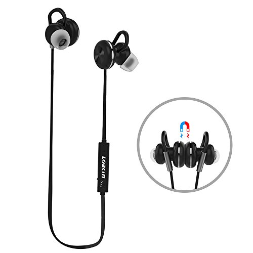 LOBKIN Sport Bluetooth 4.1 Headset Earphone CVC 6.0 Noise Cancelling Magnetic Headphone for Gym Running ,Cycling 8 Hours playtime