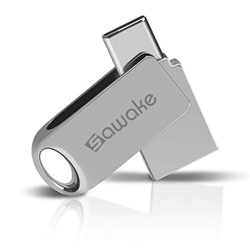 Memoria USB Type-c, SAWAKE Llevaro Retráctil Flash Drive Aluminio, Carcasa de Metal con Interfaz Impermeable,para PC/Laptop/Notebook/Smartphone …
