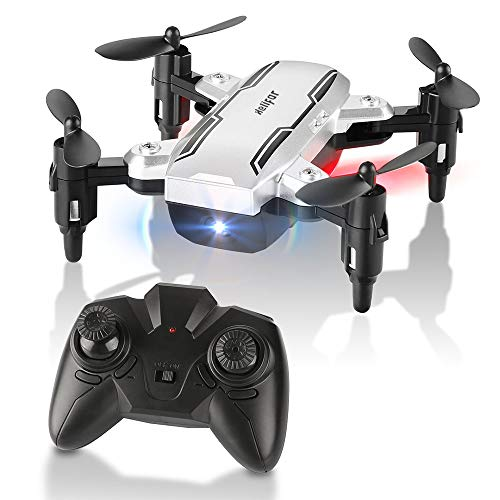 Mini Drone plegable con Altitude Hold, H815 Night Light Flying RC Quadcopter, One Key despegue / aterrizaje, modo sin cabeza 2.4GHz 6-Axis Gyro Pocket Helicopter (Sliver)