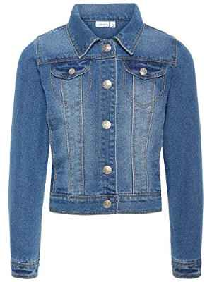 Name IT NITSTAR RIKA DNM Jacket NMT Noos, Chaqueta Niños, Azul (Medium Blue Denim), 122