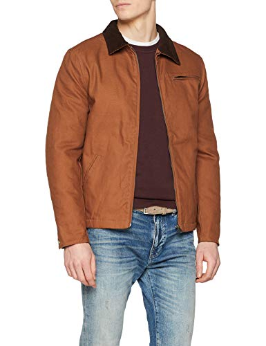New Look Cord Collar Trucker, Chaqueta para Hombre, Beige (Tan), XX-Large