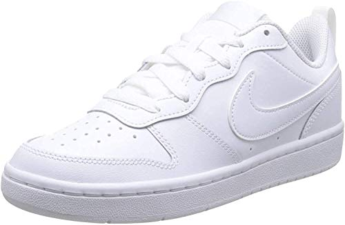 NIKE Court Borough Low 2, Sneaker Boys, White White White, 33 EU