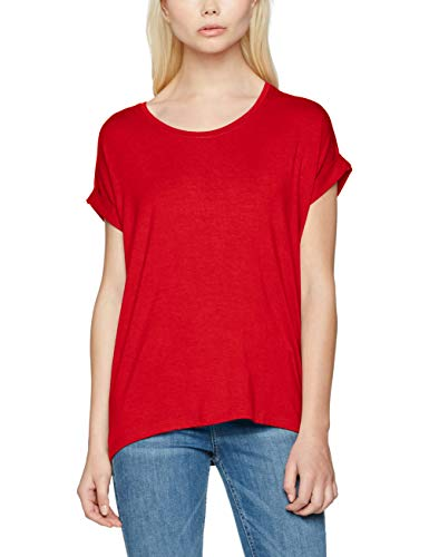 Only Onlmoster S/s O-Neck Top Noos Jrs Camiseta, Rojo (High Risk Red High Risk Red), 36 (Talla del Fabricante: X-Small) para Mujer