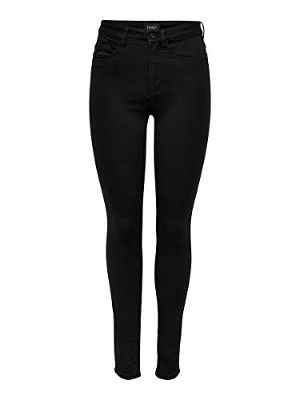 Only Onlroyal High Sk Jeans Pim600 Noos, Jeans Skinny para Mujer, Negro (Black), XS/32
