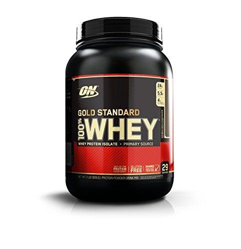 Optimum Nutrition Gold Standard 100% Whey Proteína en Polvo, Doble Rico Chocolate - 909 g