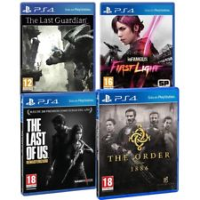 PACK4 PS4 LAST OF US + THE ORDER 1886 + INFAMOUS FIRST LIGHT + THE LAST GUARDIAN