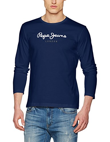 Pepe Jeans Eggo Long, Top de Manga Larga Para Hombre, Azul (Navy 595), Large