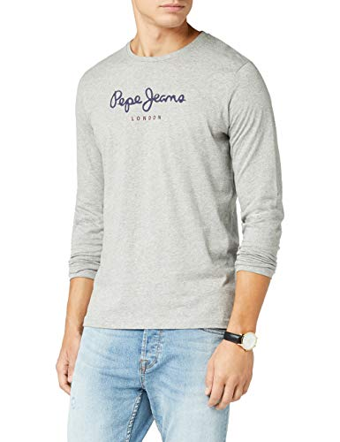 Pepe Jeans Eggo Long, Top de Manga Larga Para Hombre, Gris (Grey Marl 933), Medium