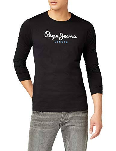 Pepe Jeans Eggo Long, Top de Manga Larga Para Hombre, Negro (Black 999), Small