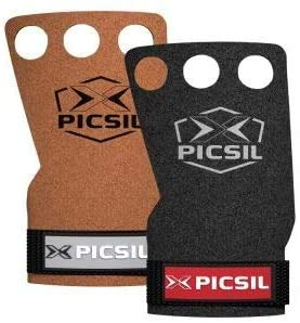 PICSIL Raven Grips 3H - Calleras para Crossfit Grips Gymnastics, pullups, Weight Lifting, Chin ups Protect Your Palms. Talla M. Color Marron