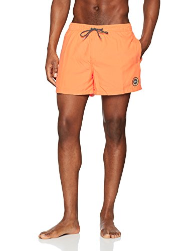 "Quiksilver Everyday Volley 15"" Bañador para Hombre, Naranja (Cadmium Orange/Solid), S"