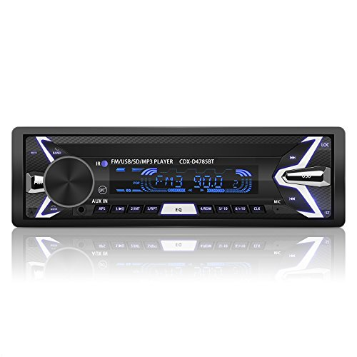 Radio Coche Bluetooth Auto Radio FM USB MP3 Audio Estéreo Manos Libres In-Dash [Caratula Extraíble]