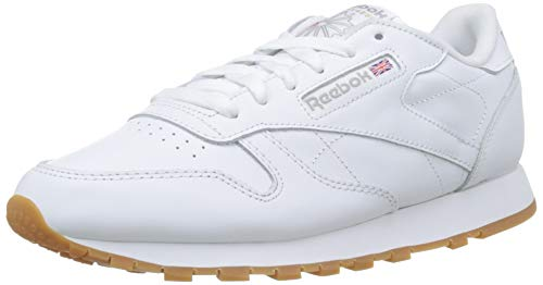 Reebok Classic Leather Zapatillas, Mujer, Blanco (INT-White/Gum), 38.5 EU