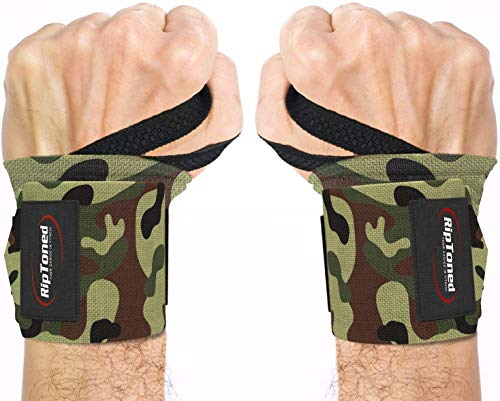 "Rip Toned Wrist Wraps by Muñequeras - 18"" Professional Grade with Thumb Loops - Wrist Support Braces for Men & Women - Weight Lifting, Crossfit, Powerlifting, Strength Training"