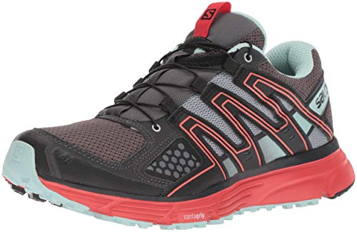 Salomon X-Mission 3 W, Calzado de Trail Running para Mujer, Negro (Magnet/Black/Poppy Red), 38 EU