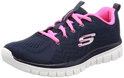 Skechers Graceful-Get Connected, Zapatillas para Mujer, Azul, 41 EU