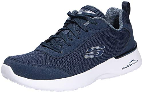 Skechers Skech-Air Dynamight-Fast Brak, Zapatillas para Mujer, Azul (Navy Mesh/White Trim Nvy), 40 EU