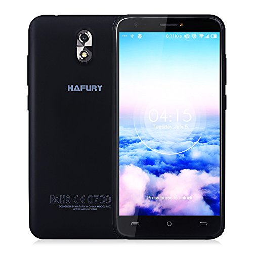 Smartphone Libre CUBOT HAFURY MIX 3G Smartphone Android 7.0 MTK6580A 1.3GHz Quad Core 5.0'' IPS HD Screen 1280 * 720p 2GB RAM + 16GB ROM Double Caméra 13.0MP + 5.0MP Batterie 2600mAh GPS WiFi A-GPS Proximity Sensor,Color Ngero