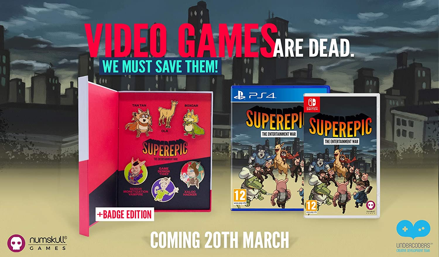 SuperEpic: The Entertainment War - Collector's Edition.  Nintendo Switch