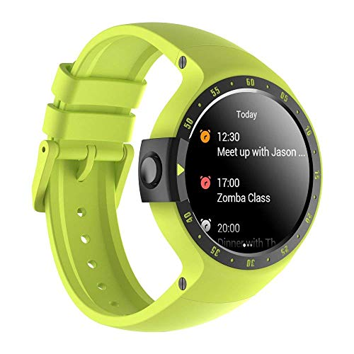 Ticwatch Reloj Inteligente Smart Watch Pantalla Táctil de OLED 1.4 Pulgada Compatible con iOS y Android Sistema Android Wear 2.0 Comience Su Vida Inteligente Color Amarillo