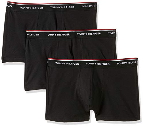 Tommy Hilfiger 3p Trunk, Pack 3 x Bóxers Para Hombre, Negro (Black 990), Medium
