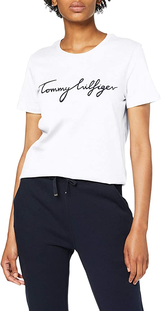 Tommy Hilfiger Heritage Crew Neck Graphic tee Camiseta para Mujer