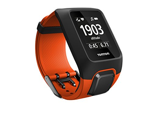 TomTom Adventurer - Reloj deportivo, 3 GB, GPS, pulsómetro integrado, más de 500 canciones, modo Multisport, Bluetooth Smart, 143-206 mm, color naranja