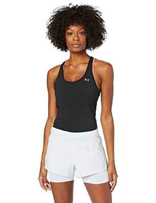 Under Armour Launch Sw 2-In-1 Pantalones Cortos, Mujer, Gris, XS