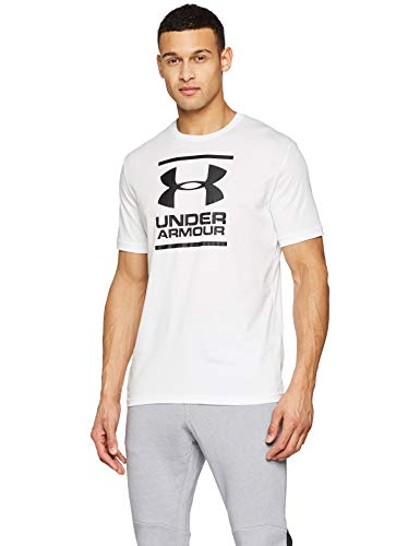 Under Armour UA GL Foundation SS T Camiseta, Hombre, Blanco (White/Black 100), M