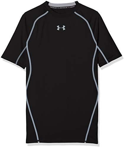 Under Armour Ua Hg Armour SS, Camiseta de Manga Corta para Hombre, Black (001), M