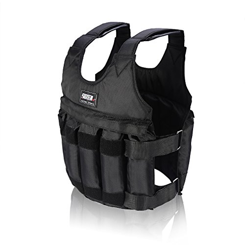 Yosoo 44lb/20 kg Weighted Vest Workout peso chaqueta ejercicio boxeo Fitness Training, 50KG